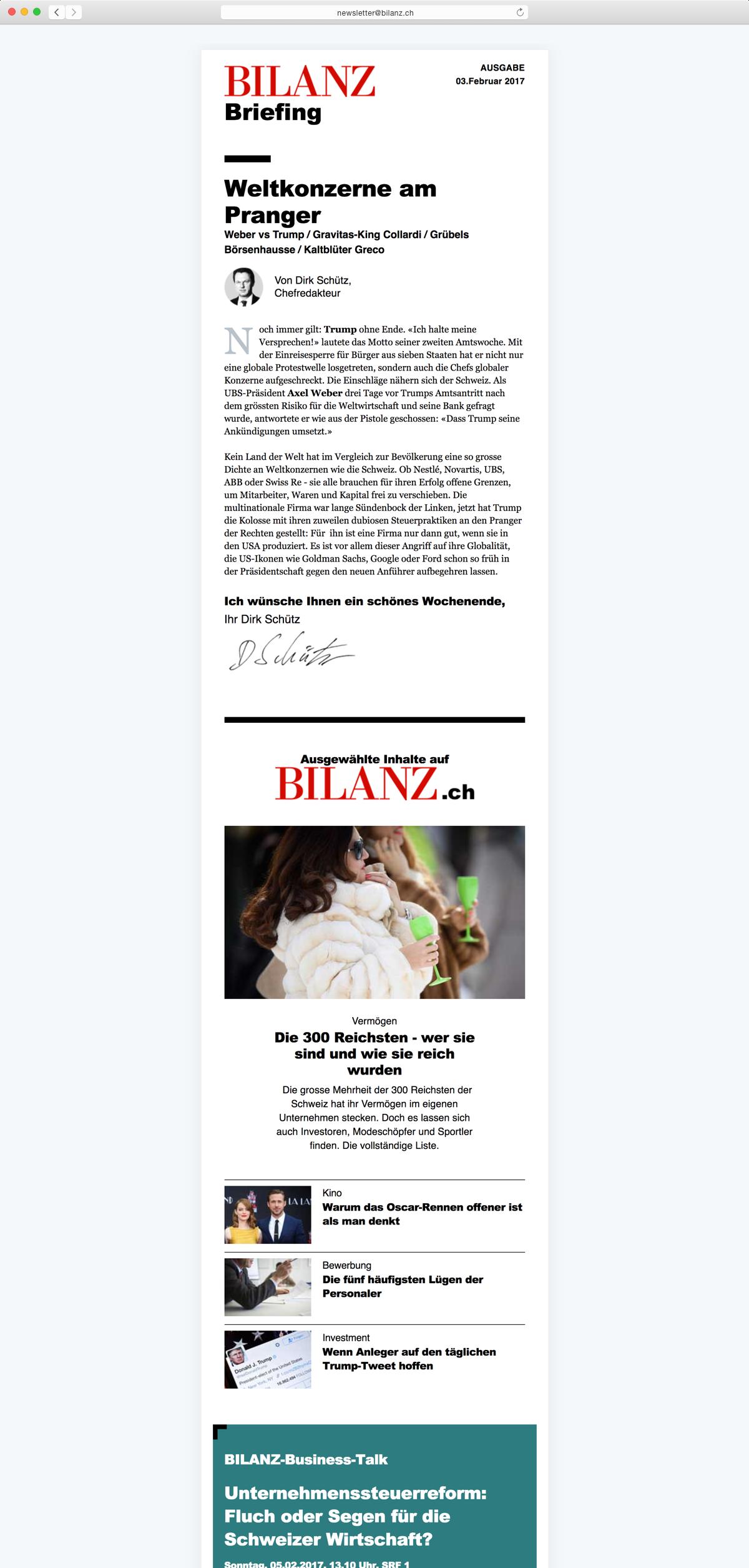 Bilanz Newsletter - Featured Image
